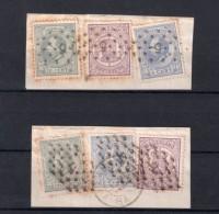 PAYS - BAS : N° 18, 19 , 22 . SUR DEUX FGT . B . 1870/78 . - Period 1852-1890 (Willem III)