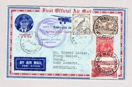 OZ LAE NEUGUINEA 31.7.1934 Luftpostbrief Nach Tegna Locarno TI Mit AK Stempel - Papouasie-Nouvelle-Guinée