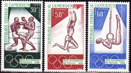 CAMEROUN Jeux Olympiques Mexico 68. Yvert PA 118/20 ** MNH. - Summer 1968: Mexico City