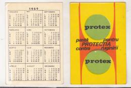 Romanian Small Calendar - 1969 - Protex - Calendriers