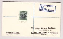Barbados 14.7.1924 R-Brief Nach Corcelles P. Payerne Via London - Barbades (...-1966)