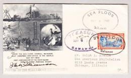 Bahamas 6.5.1940 Sea Floor Stempel Auf Illustriertem Umschlag Williamson Undersee Expedition - Bahamas (...-1973)