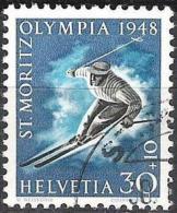 Olympia 1948 Zu WIII 28 Mi 495 Yv 452 MitOlympia-o ST.MORITZ 30.I.48 (Zu CHF 10.00) - Usati