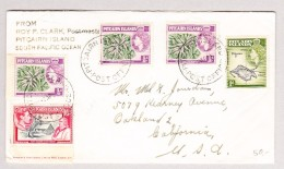 Pitcairn Island Post Office 9.4.1953 Brief Nach Oackland USA - Timbres