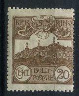 SAINT-MARIN  ( POSTE ) : Y&T N°  72  TIMBRE  NEUF  SANS  TRACE  DE  CHARNIERE , GOMME  D ORIGINE , A  VOIR . - Unused Stamps