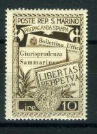 SAINT-MARIN  ( POSTE ) : Y&T N°  233  TIMBRE  NEUF  AVEC  TRACE  DE  CHARNIERE , A  VOIR . - San Marino