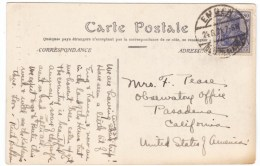 Germany Sc#128 80pf Germania Issue On Postcard Cover Sent To Mount Wilson Observatory Office August 1921 - Germany