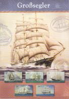Grand Feuillet Avec 5 Timbres Sur La Marine à Voiles .Berlin 2005 . - Bateaux