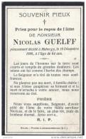 HABERGY ..-- Mr Nicolas GUELFF . Né En 1844 . Décédé En 1908 . - Messancy