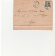 LETTRE AFFRANCHIE SEMEUSE N° 130  OBLITEREE CAD TLEMCEN  13-0341905 ORAN - Algérie (1924-1962)