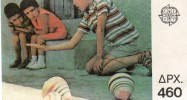 GRECE EUROPA CARNET 1705** - JEUX D'ENFANTS - Cote 16 € (oiseau Et Papillon Stylisés) - 1989
