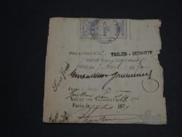 FRANCE / Allemagne - Document Avec Fiscaux Mixte En 1879 - A Voir - L 40 - Fiscale Zegels
