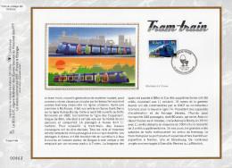 """FRANCE 2006 : CEF 1° Jour En SOIE N° 1856s """" TRAM TRAIN """". N° YT 3985. Parfait état. - Tramways"""