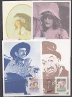 Australia 1989 Cinema 4v 4 Maxicards (30514) - Cartas Máxima