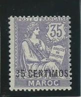 MAROC Colo: *, N°24, Frte Ch., Aminci, AB - Marokko (1891-1956)