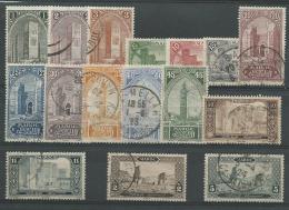 MAROC Colo: Obl., N°63 à 78, 16 Tp, TB - Maroc (1891-1956)