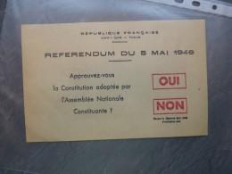 REFERENDUM 1946 Bulletin De Vote Original ; Ref 293 VP 16 - Historische Dokumente