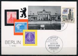 """Germany Berlin 1966 Sonderkarte 1.Mai Demostration Mit Mi.Nr.254 U.SST""""Berlin 12-Berlin Stätte Der Freiheit """" 1Beleg - Manifestazioni"""
