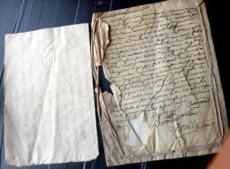 TESTAMENT SOUS LETTRE CACHETEE A LA CIRE PAR L´EPOUSE DU SEIGNEUR DE POMMIER CHEVALIER DE L´ODRE MILITAIRE 1762 - Manuscrits