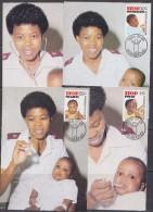 Bophuthatswana 1985 Child Health Care 4v 4 Maxicards (30519) - Bophuthatswana