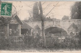 CPA  Dép 41 La Ferté Saint Cyr Grand Pont Sur Le Cosson Et Lavoir  Circulée 1912 - France