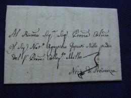 Royaume De Sardaigne :Lettre De TORINO Pour NIZZA Di PROVENZA -1787. - ...-1850 Voorfilatelie