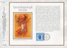 """FRANCE 2006 : CEF 1° Jour En SOIE N° 1838s """" OPEN DE GOLF DE FRANCE """" N° YT 3935. Parfait état"""