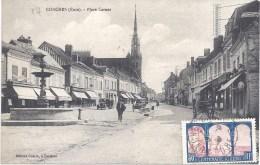 27 - CONCHES - PLACE CARNOT - Circulé - Conches-en-Ouche