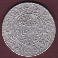MAROC .2 ½ DIRHAMS (1/4 RIAL) AH 1310 PARIS.  HASSAN I. ARGENT - Maroc