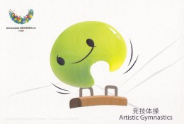 Artistic Gymnastics - UU, Mascot Of The 26th Summer Universiade 2011, Shenzhen Of China, Prepaid Card - Gymnastiek