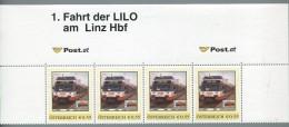 ÖSTERREICH / PM Nr. 8007836 / 1. Fahrt Der LILO Am Linz Hbf / 4er Streifen / Postfrisch / MNH / ** - Personalisierte Briefmarken