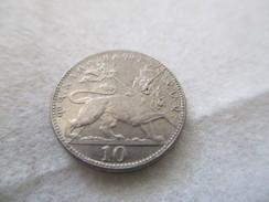 10 Matona 1923 EE (Haile Selassie Coronation) - Coin Fendu - Ethiopia