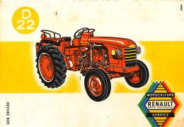 BU 1421 /   BUVARD -    TRACTEUR   D 22  MOTOCULTURE RENAULT - Agriculture