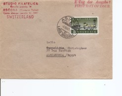 Suisse ( Lettre En Premier Jour De 1947 De Ascona  Vers L'Egypte à Voir) - Suiza