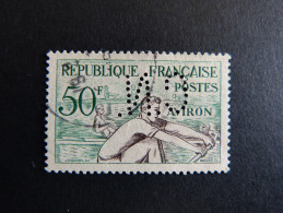 FRANCE C N° 964 1953 C.N. 304 Perforé Perforés Perfins Perfin Superbe !! - France