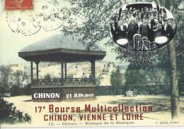 CHINON ... 17e BOURSE MULTICOLLECTION 21 JUIN 2015 ... KIOSQUE DE LA MUSIQUE .. HARMONIE DE CHINON - Chinon