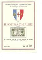 Guerre40/45 - Honneur Aux Alliés ( Commémoratif Du Luxembourg Numéroté De 1945  à Voir) - WW2