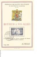 Guerre 40/45-Honneur Aux Alliés ( Carte Commémorative Du Luxembourg Numérotée  De 1945 à Voir) - WW2