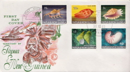 Papua New Guinea Set On FDC - Coquillages