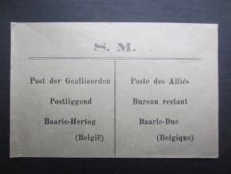 ENVELLOPPE (V1604) S.M. POSTE DES ALLIéS (2 Vues) Bureau Restant BAARLE-DUC * BAARLE-HERTOG - Autres