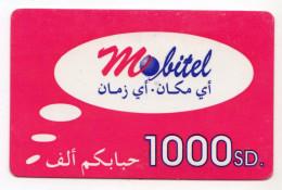 SOUDAN PREPAYEE MOBITEL 1000sd - Sudan