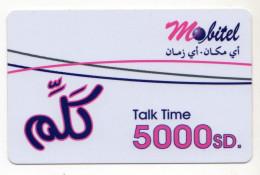 SOUDAN PREPAYEE MOBITEL 5000sd - Soedan