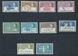 British Antarctic Territory 1963 QEII Definitive Short Set Of 10 To 1/- Plane MLH - Territoire Antarctique Britannique  (BAT)