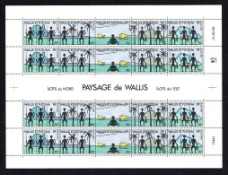 1992  Vues Des îles  - Feuille De  4 Bandes De 5 Timbres   Yv 436-440   **  MNH - Wallis Y Futuna
