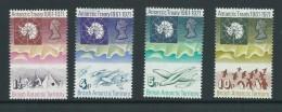 British Antarctic Territory 1971 Treaty Anniversary Set 4 Mint , 4d With Small Fault - British Antarctic Territory  (BAT)