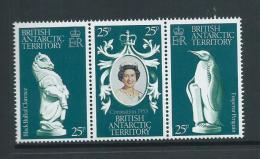 British Antarctic Territory 1978 QEII Coronation Anniversary Strip Of 3 MNH - British Antarctic Territory  (BAT)