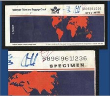 IATA Specimen Airline 4 Flight Transport Ticket Passenger Ticket See Scan RARELY OFFERED - Unclassified