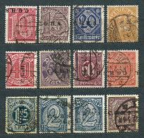 Poland 1920, Upper Silesia Officials, MiNr 8-20 Used, Incomplete, Overprint C.G.H.S. Type II, III, IV - Silésie (Haute & Orientale)