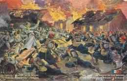 GUERRE - CPA COLORISEE TRES RARE - Bataille De La Marne - Les Turcos à GERMINY L'EVEQUE - DPE - - Militaria