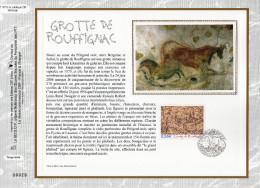 """FRANCE 2006 """" GROTTE DE ROUFFIGNAC """" Sur Feuillet CEF N°té En SOIE. N° YT 3905. Parfait état. - Préhistoire"""
